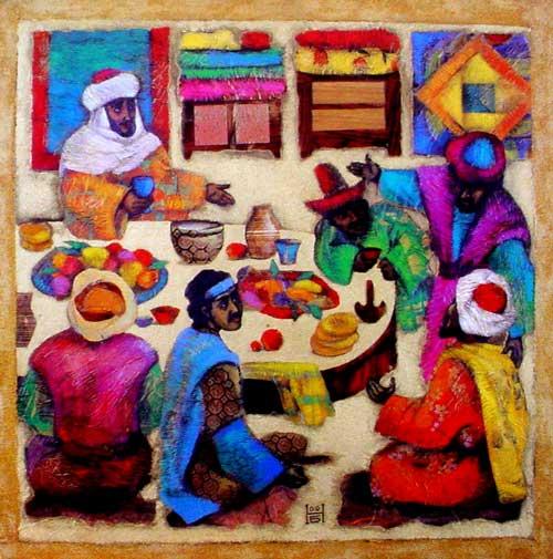 Luke 14:1, 7-14 dans immagini sacre lowest_place_at_feast